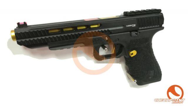 APS PMT mantis NR-4U GBB pistola negra