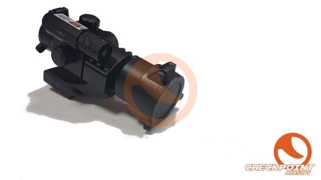 Visor M2 con laser verde (pila 2032 y CR2 no inclu