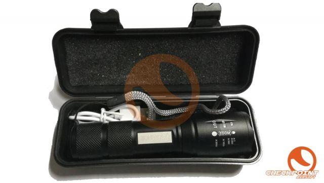 Linterna con zoom barra de led y caja ABS