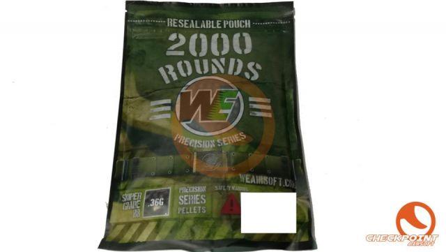 Paquete de 2000BB's de 0,36g negras