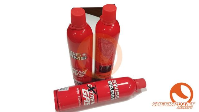 Botella gas Swiss Arms 600 ml extreme gas rojo/gri