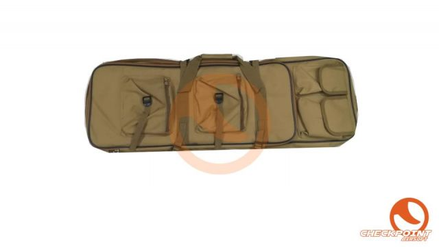 Funda transporte rifle multibolsillo 85cm tan