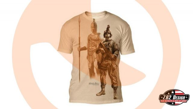 Camiseta 7.62 Spirit Of a Warrior Cream