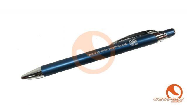 Bolígrafo aluminio color azul UIP