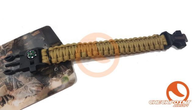 Pulsera paracord supervivencia Coyote