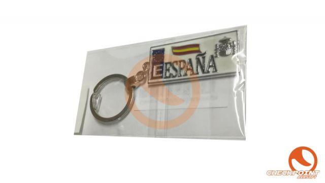 Llavero España const.europa rectangular