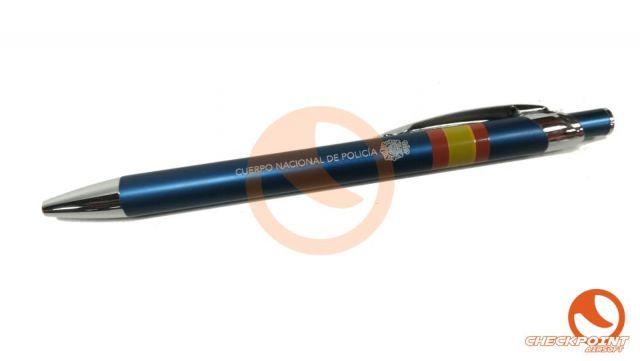 Bolígrafo aluminio color azul CNP