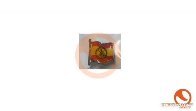 Pin bandera ondulada legión