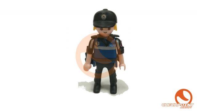 Muñeco custom Policía Municipal seguridad