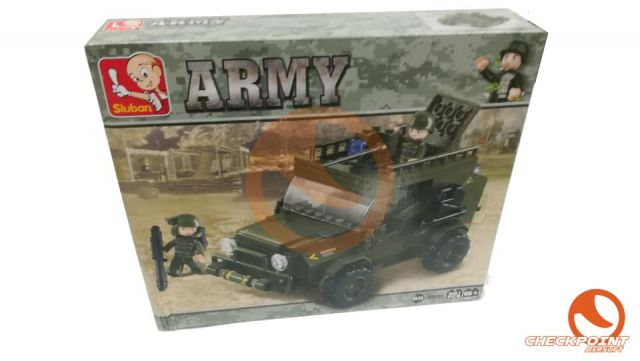 Jeep ejercito 221 bloques Sluban Army