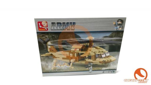 Helicóptero Black Hawk 439 bloques Sluban Army