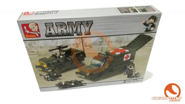 Ambulancia y escolta 229 bloques Sluban Army