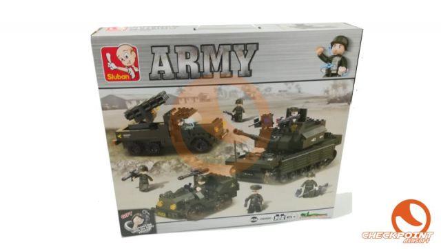 Fuerza de combate 602 bloques Sluban Army